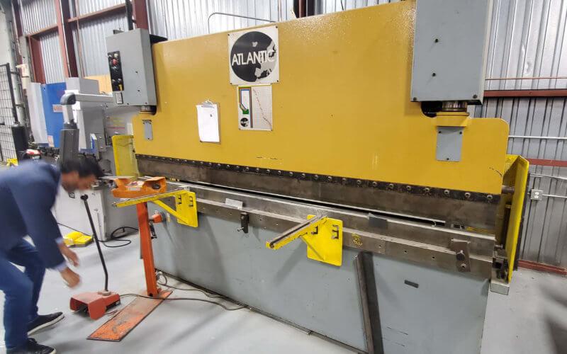 Used Atlantic press brake 110 ton 10 feet